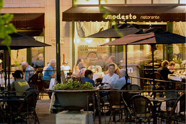 dining on restaurant row in downtown asheville